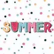 June Good Life- Summer Journal Card 4x4