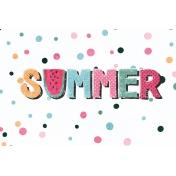 June Good Life- Summer Journal Card 4x6