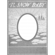 Snow Baby Template- Photo Frame