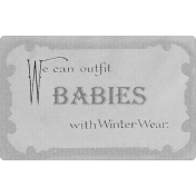 Snow Baby Template- Winter Babies Label