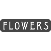Spring Day Templates- Flowers Label