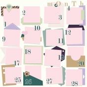 Calendar Layout Template: Left