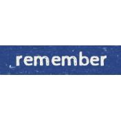 Kids Ahead- Remember Word Art