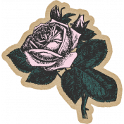 Summer Twilight- Pink Rose Sticker