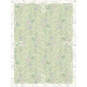 Summer Twilight- Polka Dot Floral Journal Card 3x4