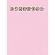 Summer Twilight- Memories Journal Card 3x4