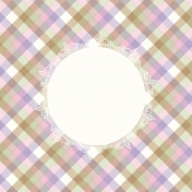 Summer Twilight- Plaid Journal Card 4x4