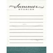 Summer Twilight- Summer Stories Journal Card 3x4