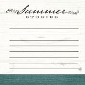 Summer Twilight- Summer Stories Journal Card 4x4