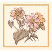 Cozy Kitchen Square Flower Sticker
