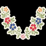Heading Back 2 School Floral Sticker