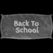 Heading Back 2 School- Back to School Label