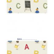 Heading Back 2 School-ABC 3x4 Journal Card