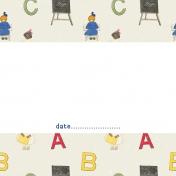 Heading Back 2 School- ABC 4x4 Journal Card