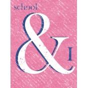 Heading Back 2 School- School 3x4 Journal Card