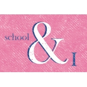 Heading Back 2 School- School 4x6 Journal Card