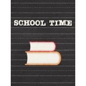 Heading Back 2 School- Books 3x4 Journal Card
