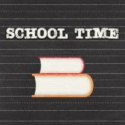 Heading Back 2 School- Books 4x4 Journal Card