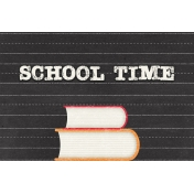 Heading Back 2 School- Books 4x6 Journal Card