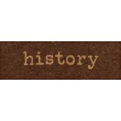 Backyard Archaeology- History Word Art