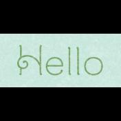 Frenchy Hello Word Art