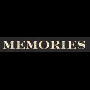 Frenchy Memories Word Art