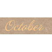 Frenchy October Word Art