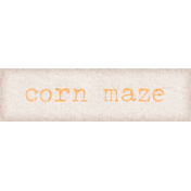 Orchard Traditions Corn Maze Word Art Snippet