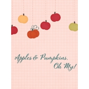 Orchard Traditions Apples & Pumpkins Journal Card 3x4
