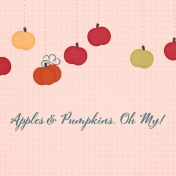 Orchard Traditions Apples & Pumpkins Journal Card 4x4
