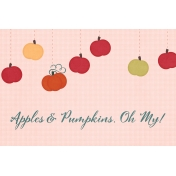 Orchard Traditions Apples & Pumpkins Journal Card 4x6