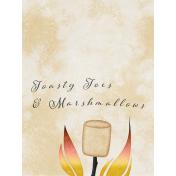 Bonfire Memories Toasty Toes & Marshmallows Journal Card 3x4