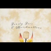 Bonfire Memories Toasty Toes & Marshmallows Journal Card 4x6