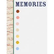 Bonfire Memories Memories Journal Card 3x4