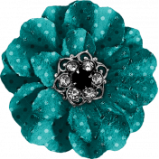 Legacy of Love Teal Polka Dot Flower