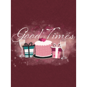 Legacy of Love Good Times Journal Card 3x4