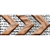 Inner Wild Wooden Arrow