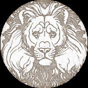 Inner Wild Round Lion Label
