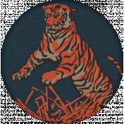 Inner Wild Round Tiger Label