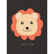Inner Wild Lion Journal Card 3x4