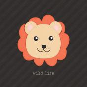 Inner Wild Lion Journal Card 4x4