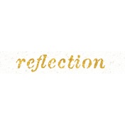 Reminisce Reflection Word Art