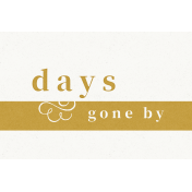 Reminisce Days Gone By Journal Card 4x6