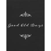Reminisce Good Old Days Journal Card 3x4