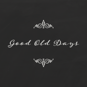 Reminisce Good Old Days Journal Card 4x4