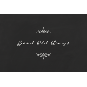 Reminisce Good Old Days Journal Card 4x6