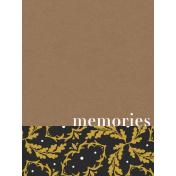 Reminisce Memories Journal Card 3x4