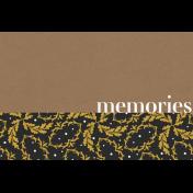 Reminisce Memories Journal Card 4x6