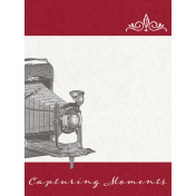 Reminisce Capturing Moments Journal Card 3x4