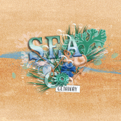 Coastal Spring Sea Journal Card 4x4